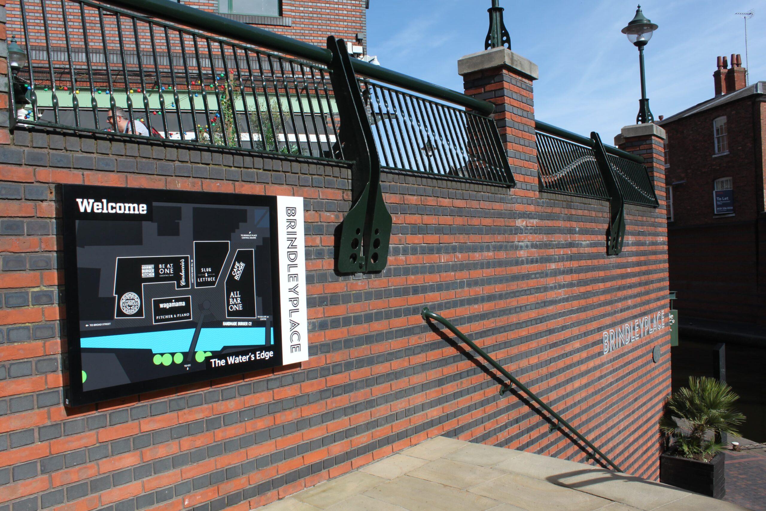 Brindley place Birmingham signage Concept Group
